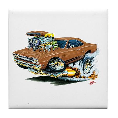 Plymouth GTX Brown Car Tile Coaster