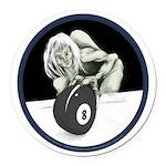 8 Ball Monster Round Car Magnet