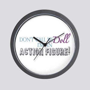 Girl Action Figure Wall Clock