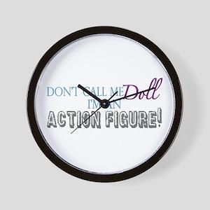 Girl Action Figure Wall Clock