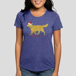 Naughty Christmas Yellow Womens Tri-blend T-Shirt