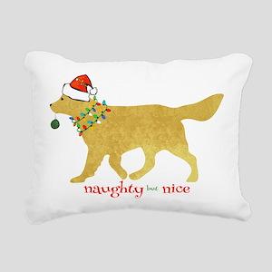 Naughty Christmas Yellow Rectangular Canvas Pillow