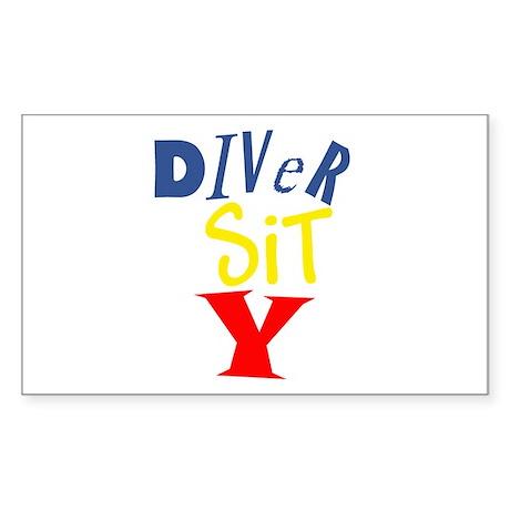 Diver Sit Y Rectangle Sticker