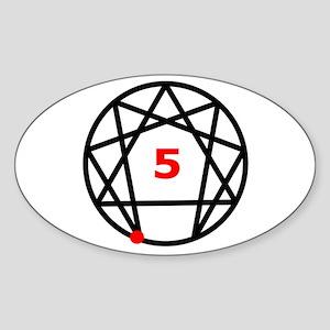 Enneagram Type 5 Oval Sticker