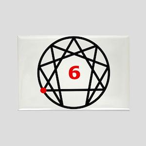 Enneagram Type 6 Rectangle Magnet