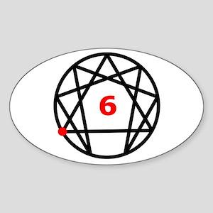 Enneagram Type 6 Oval Sticker