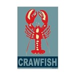 Crawfish In Red and Blue Mini Poster Print