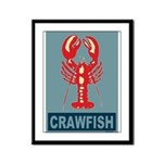 Crawfish In Red and Blue Framed Panel Print