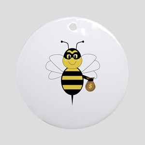 RobBee Bumble Bee Ornament (Round)