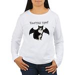 Vampire Kitty Women's Long Sleeve T-Shirt