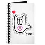 B/W Bold I-Love-You Journal
