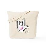B/W Bold I-Love-You Tote Bag