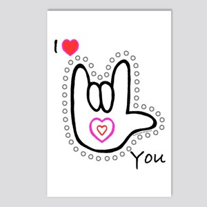 B/W Bold I-Love-You Postcards (Package of 8)