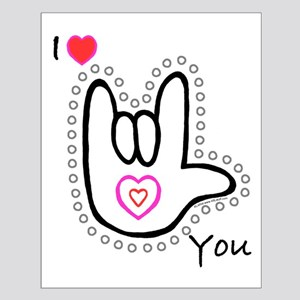 B/W Bold I-Love-You Small Poster