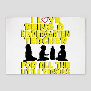 Kindergarten Teacher Gift – For all 5'x7'Area Rug