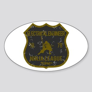 Electrical Engineer Ninja League Oval Sticker