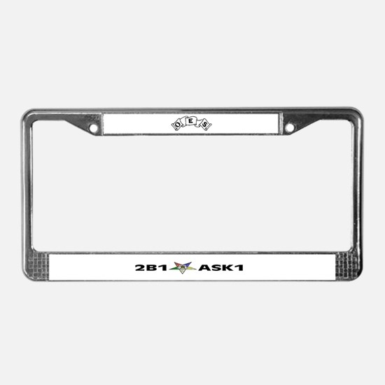 Funny Oes License Plate Frame