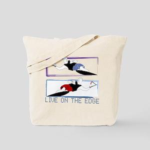 Live on the edge Slalom Tote Bag