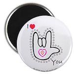B/W Bold I-Love-You Magnet