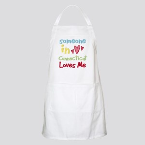 Someone in Connecticut Loves Me BBQ Apron