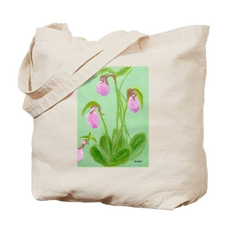 lady slipper painting Tote Bag - Picture on Front