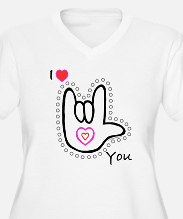 B/W Bold I-Love-You T-Shirt