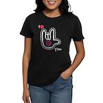 B/W Bold I-Love-You Women's Dark T-Shirt