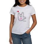 B/W Bold I-Love-You Women's T-Shirt