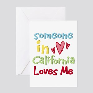 Someone in California Loves Me Greeting Card