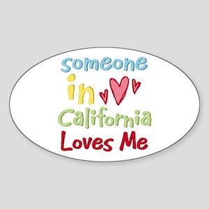 Someone in California Loves Me Oval Sticker