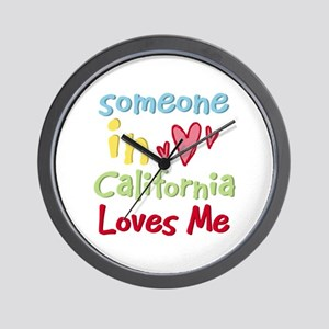 Someone in California Loves Me Wall Clock