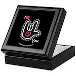 B/W Bold I-Love-You Black Keepsake Box