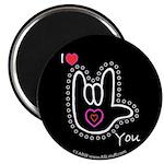 B/W Bold I-Love-You Black 2.25