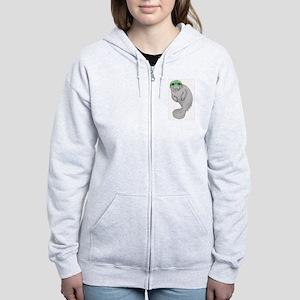 Cool Manatee Women's Zip Hoodie