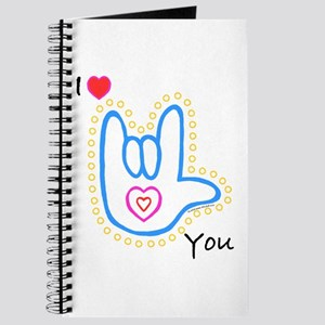 Blue Bold I-Love-You Journal