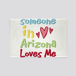 Someone in Arizona Loves Me Rectangle Magnet (10 p