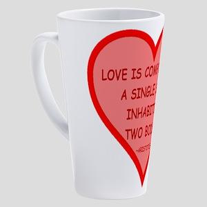 Aristotle Heart Candy 17 oz Latte Mug