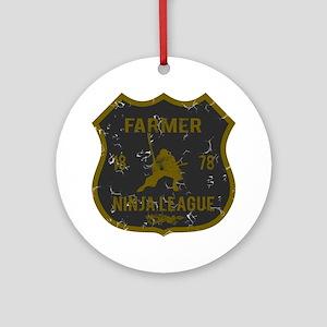 Farmer Ninja League Ornament (Round)