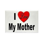 I Love My Mother Rectangle Magnet (10 pack)