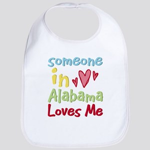 Someone in Alabama Loves Me Bib