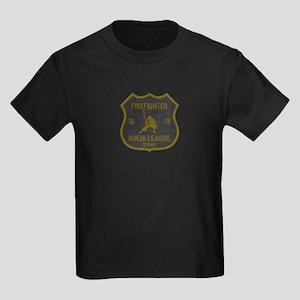 Firefighter Ninja League Kids Dark T-Shirt