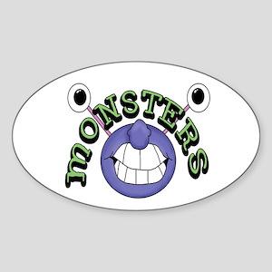 Monsters Oval Sticker