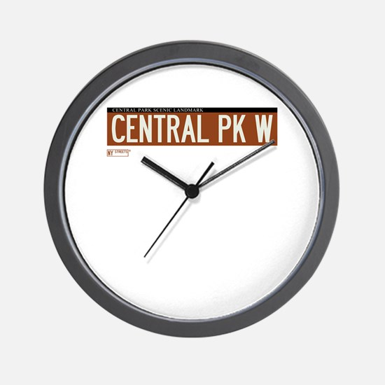 Central Park West in NY Wall Clock