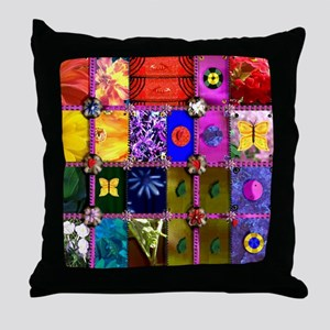 PC Quilt Sampler Throw Pillow