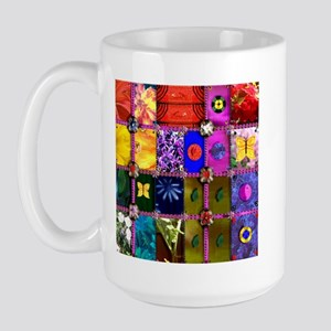 PC Quilt Sampler Large Mug