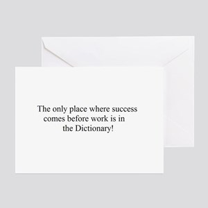 SUCCESS BEFORE WORK! Greeting Cards (Pk of 10)