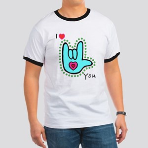 Aqua Bold I-Love-You Ringer T