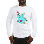 Aqua Bold I-Love-You Long Sleeve T-Shirt