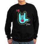 Aqua Bold I-Love-You Sweatshirt (dark)