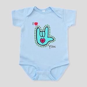 Aqua Bold I-Love-You Infant Bodysuit